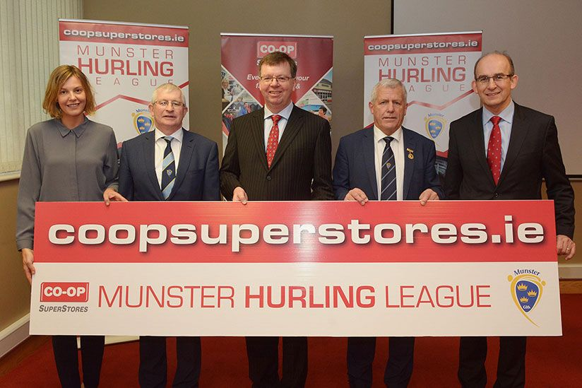 Co-Op Superstores announced as new sponsor of the Munster Hurling League