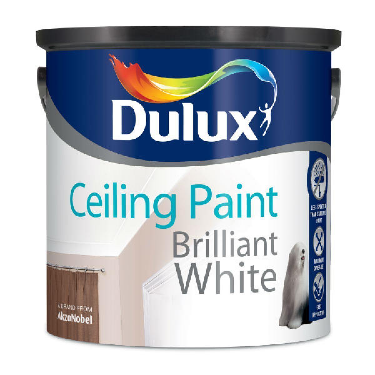 Dulux Ceiling Paint Brilliant White 2 5l