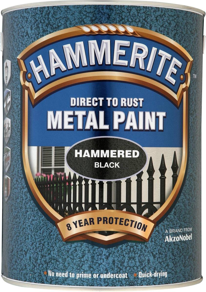 Hammerite Hammered Finish 2 5lt Black