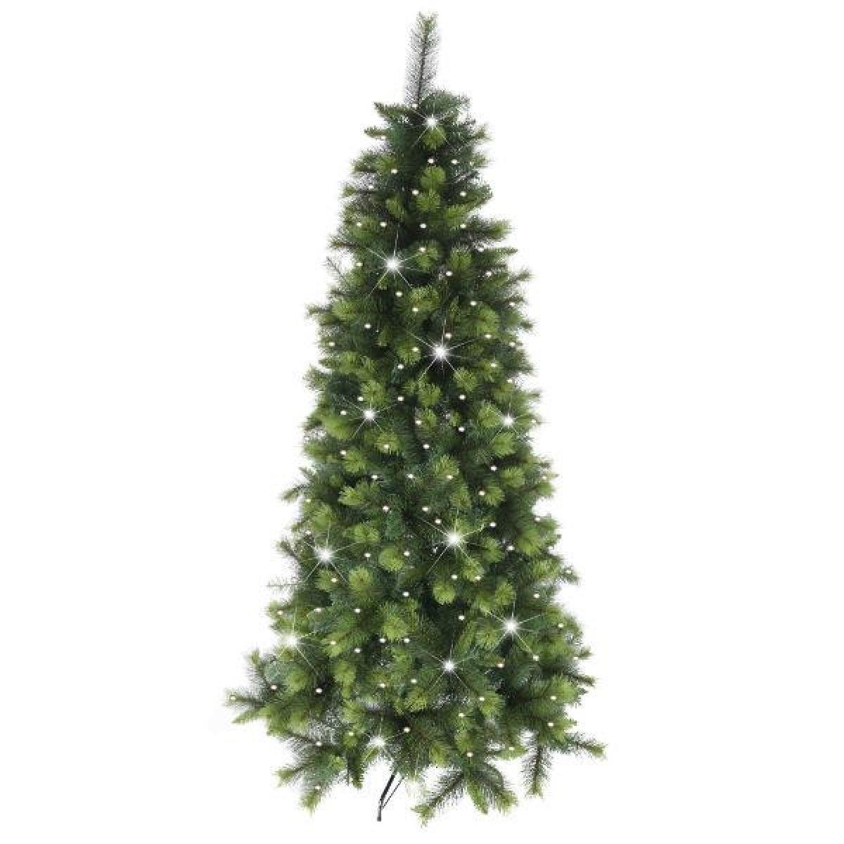 7ft Christmas Tree.Lets Sparkle Pre Lit Inishowen Pine 7ft Christmas Tree