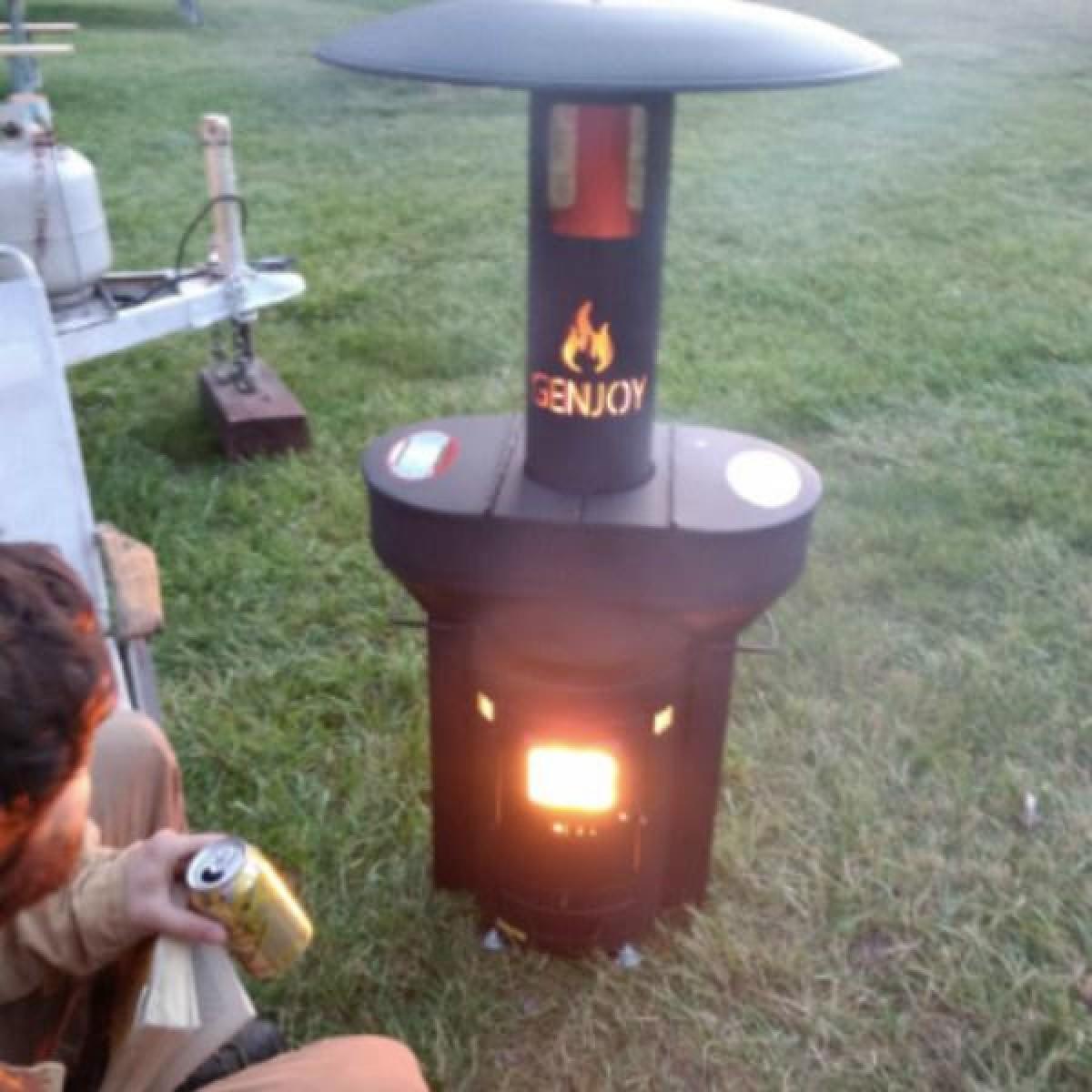 Q Flame Wood Pellet Outdoor Heater