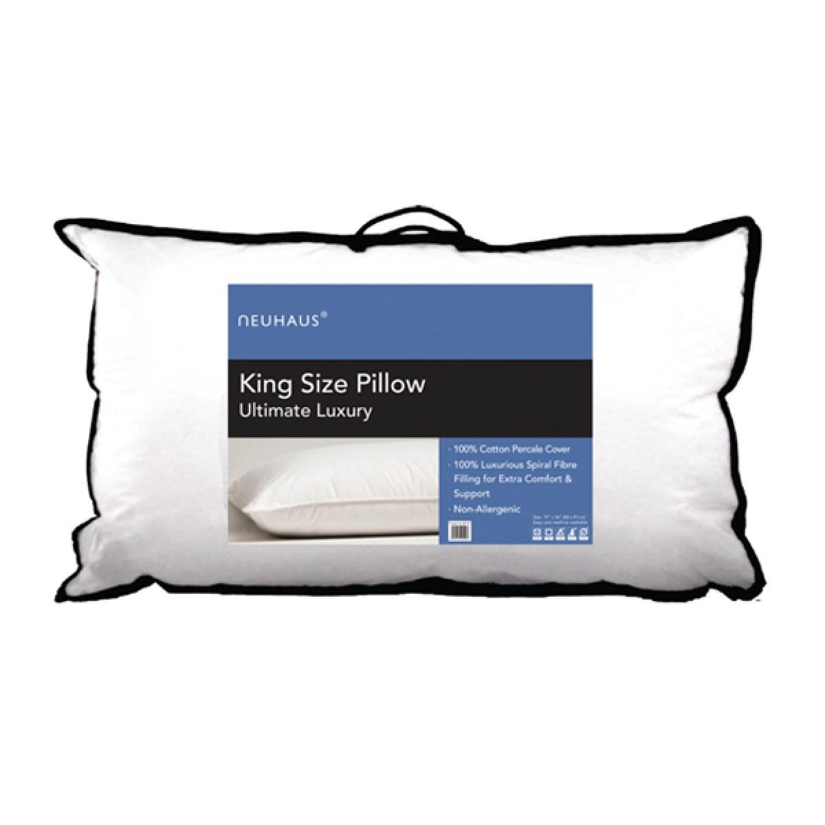 neu haus king size 100per cent cotton pillow. Black Bedroom Furniture Sets. Home Design Ideas