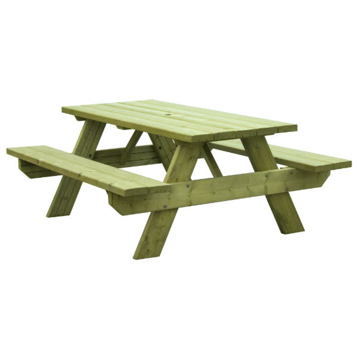 Woodford Heavy Duty Oblong 6 Seater Picnic Table