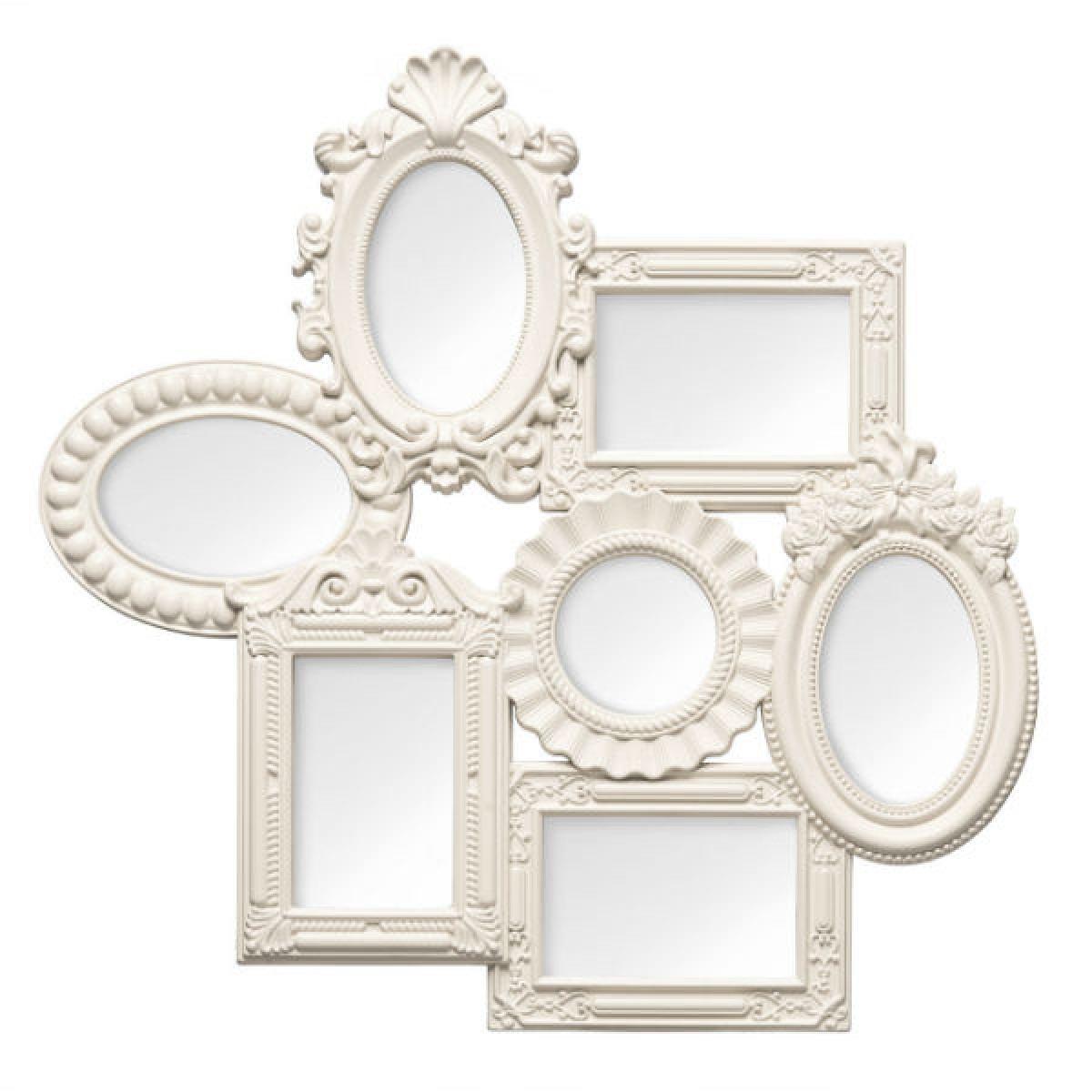 Multi Photo Frame 7 Photo Cream Plastic Frame