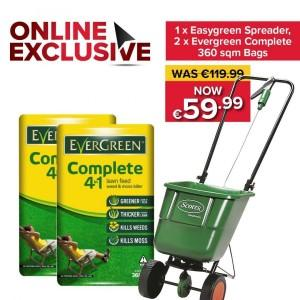 Easygreen Rotary Lawn Spreader + 2 Evergreen Complete 4 in 1 Bags