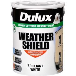 Dulux Weathershield 5lt Brilliant White Paint